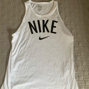 White Nike Sleeveless Tank